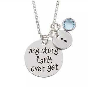 My story isn't over 🆕 necklace pendant charm NEW